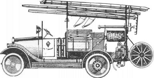 Пожарный автомобиль АМО-Ф-15, открытая компоновка