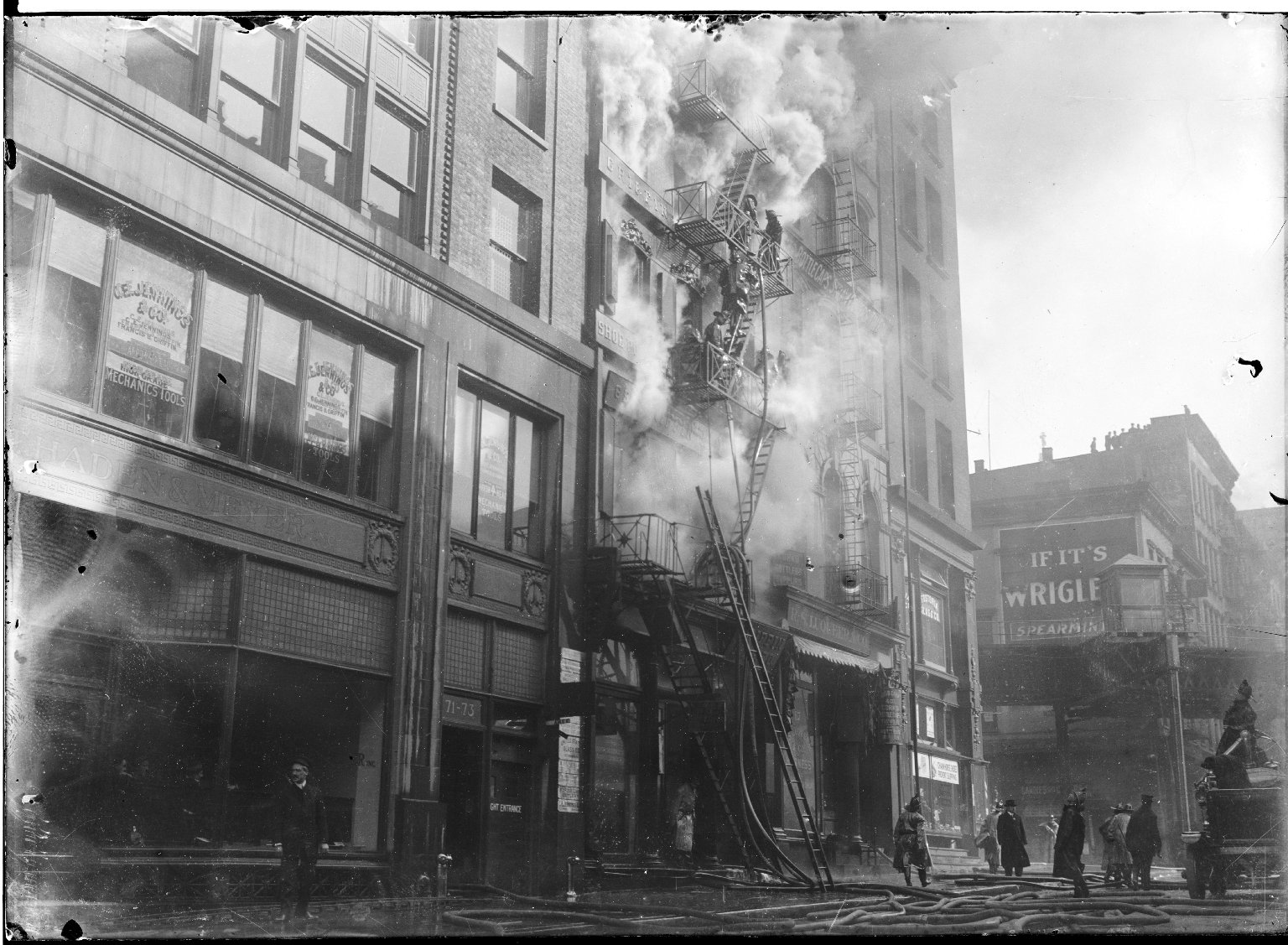 Тушение пожара. Нью-Йорк, США. 1918 год
