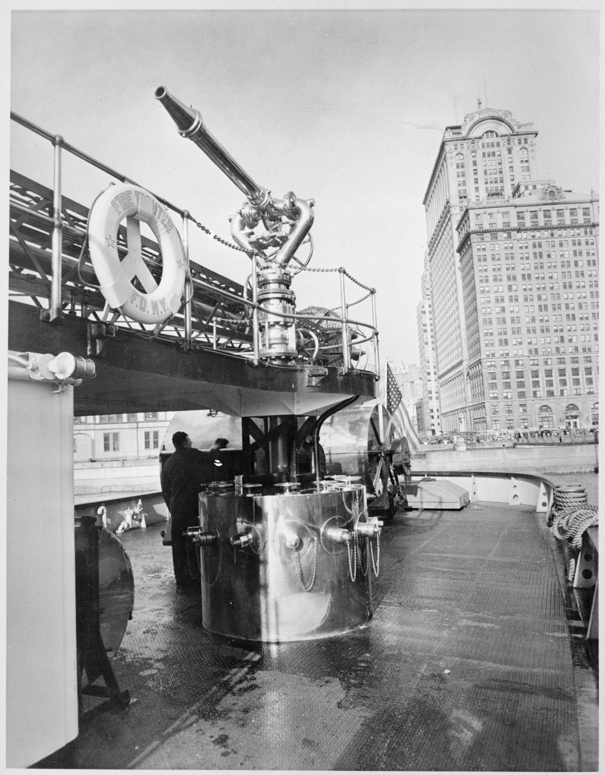 "Пожарный катер \""Firefighter\"".Нью-Йорк, США. 1930-е"