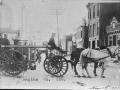 Паровой пожарный насос с конной упряжью, пожарное депо № 162, Нью-Йорк, США. 1907 год