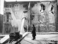 Пролив здания на пожаре. Нью-Йорк, США. Начало 20 века