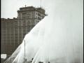 Испытания водопроводной системы высокого давления для нужд пожаротушения. Нью-Йорк, США. 1908 год