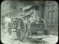 Пожарный насос с бензиновым двигателем и конной упряжью. Нью-Йорк, США. Начало 20 века