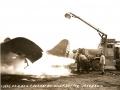 Тушение пожара на военном аэродроме Geiger AAF. Военный аэродромный пожарный автомобиль Class 150, США, 1945 год