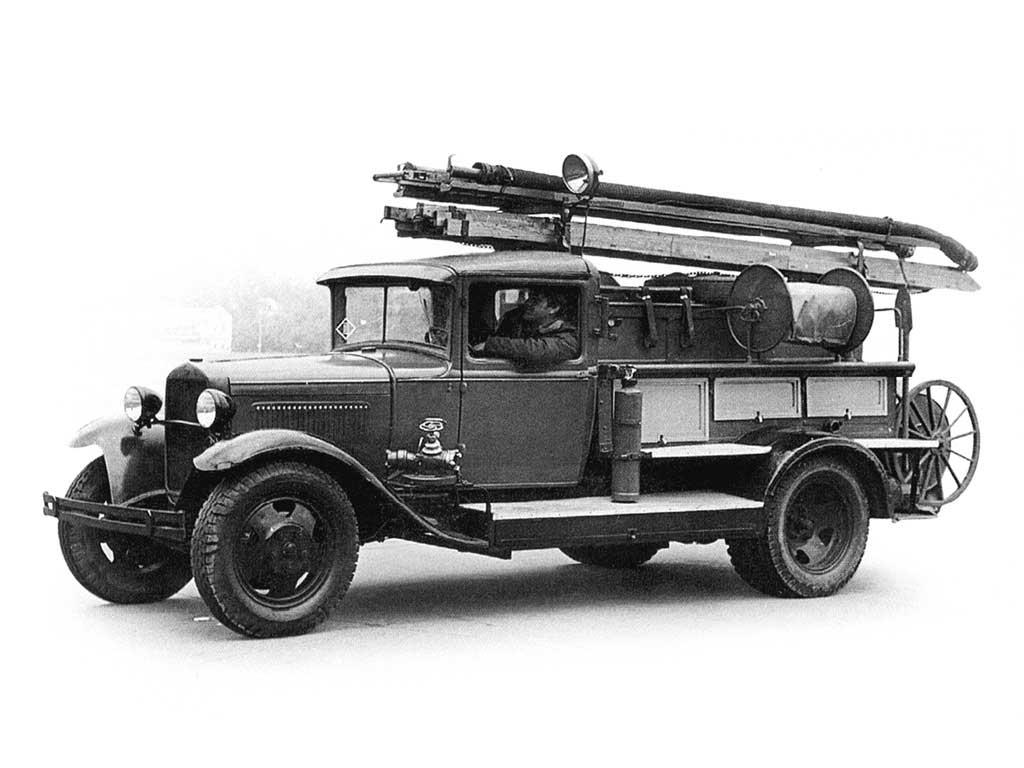 Пожарный автонасо ПМГ-1 на шасси ГАЗ-АА