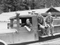Пожарный автонасос-линейка ПМЗ-1 на шасси ЗИС-11. Фото 60-х годов