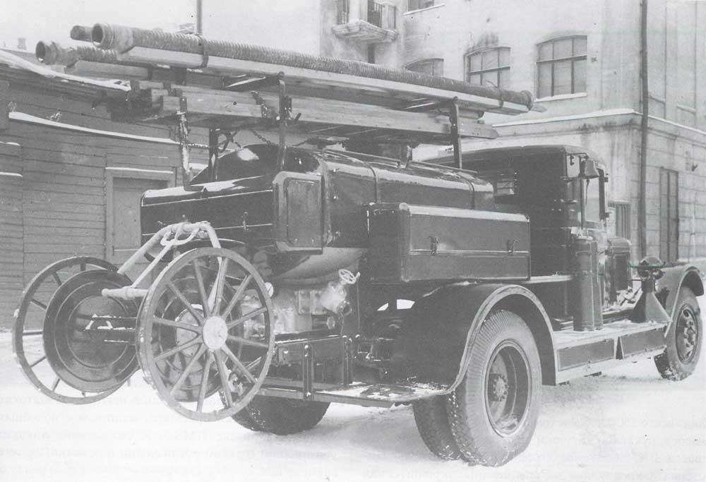 Пожарная автоцистерна ПМЗ-2, 1936 год
