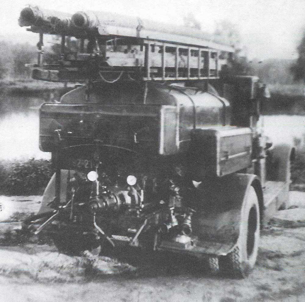 Пожарная автоцистерна ПМЗ-2. Вид сзади