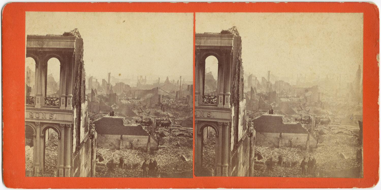 Великий пожар Бостона. 1872 год, США. Руины