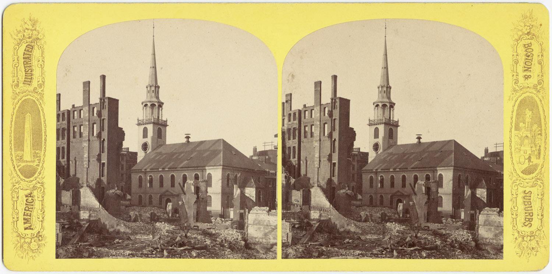 Великий пожар Бостона. 1872 год, США. Южный молельный дом