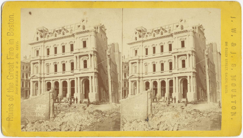 Великий пожар Бостона. 1872 год, США. Почтовое отделение на Милк Стрит