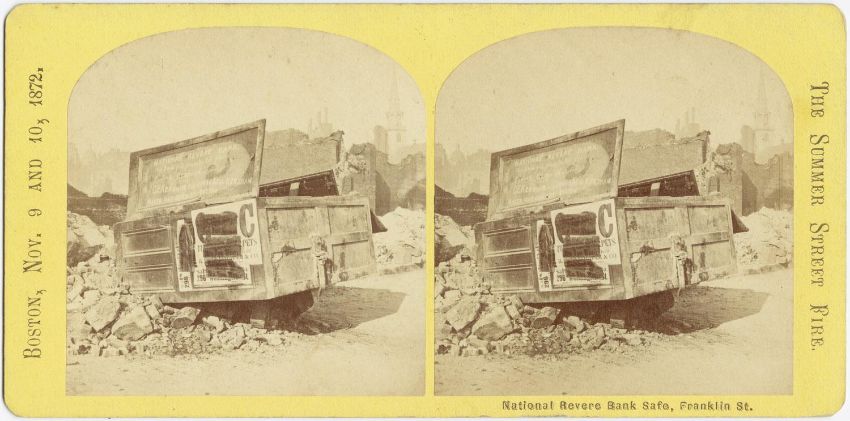 Великий пожар Бостона. 1872 год, США. Национальный банк на Франклин Стрит