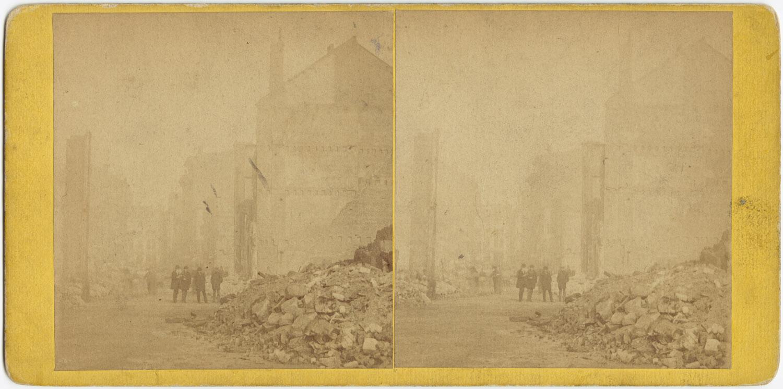 Великий пожар Бостона. 1872 год, США. Килби Стрит