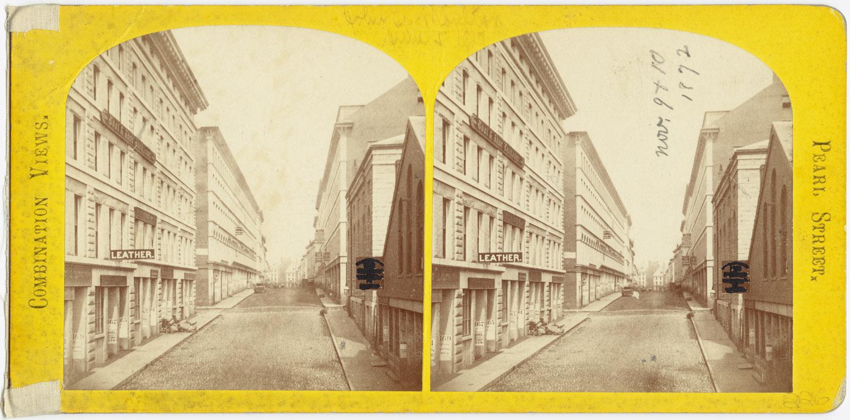Великий пожар Бостона. 1872 год, США. Руины Перл Стрит