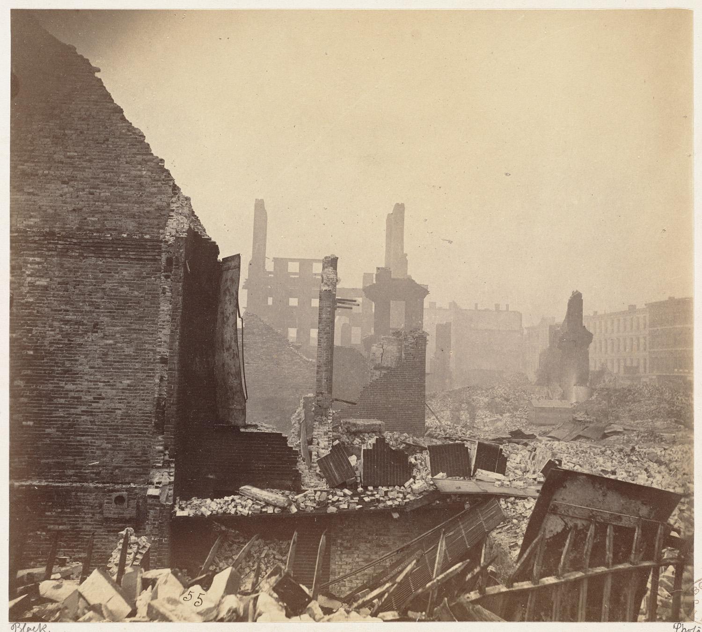Великий пожар Бостона. 1872 год, США. Хай Стрит
