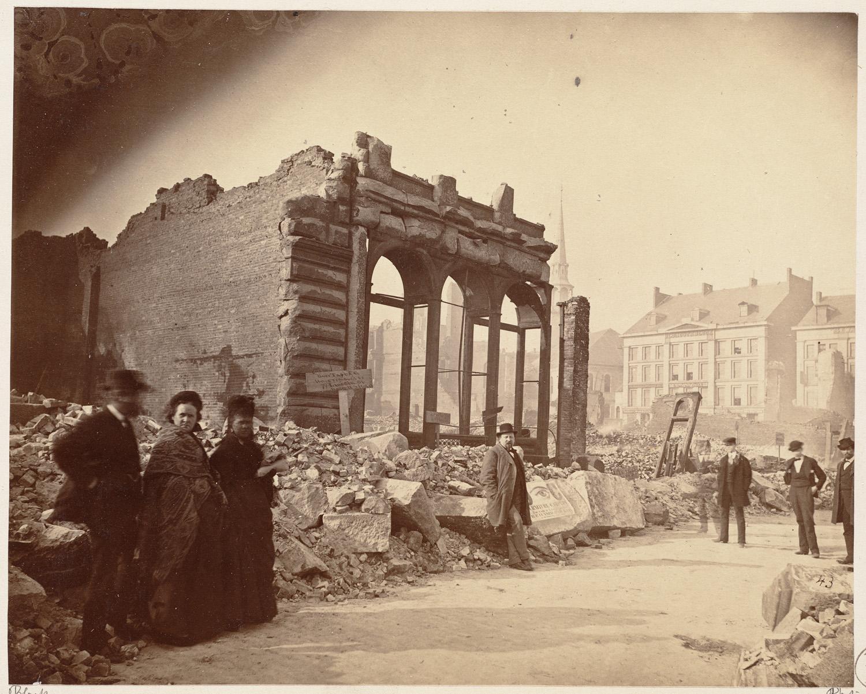 Великий пожар Бостона. 1872 год, США. Девошир Стрит