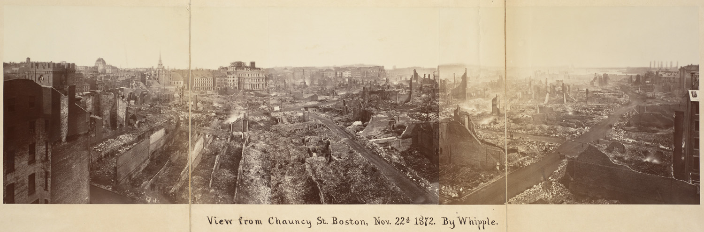 Великий пожар Бостона. 1872 год, США. Вилд с Ченси Стрит