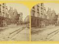 Великий пожар Бостона. 1872 год, США. Руины. Вид на Саммер Стрит