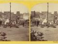 Великий пожар Бостона. 1872 год, США. Руины на Франклин Стрит