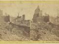 Великий пожар Бостона. 1872 год, США. Федерал Стрит. Вид на восток