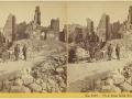 Великий пожар Бостона. 1872 год, США. Вид на руины с Милк Стрит