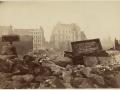 Великий пожар Бостона. 1872 год, США. Угол Хай Стрит