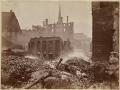 Великий пожар Бостона. 1872 год, США. Вид от Франклин Стрит
