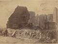 Великий пожар Бостона. 1872 год, США. Угол Милк и Килби Стрит