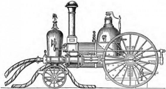 Паровая пожарная машина Ходжа, 1841 год