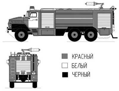 схема пожарного автомобиля