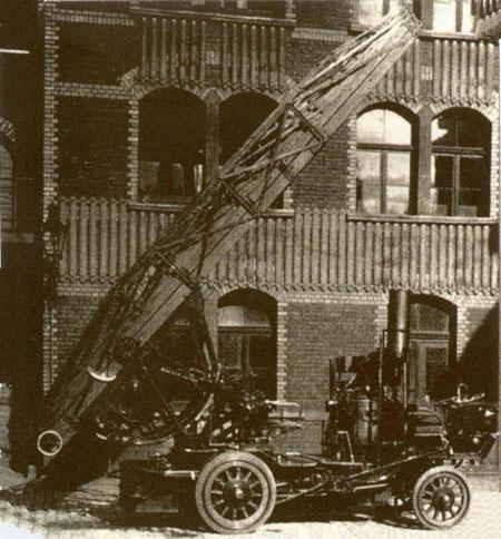 Паромобильная поворотная лестница. Германия, начало XX века