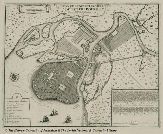 План Санкт-Петербурга 1717 года