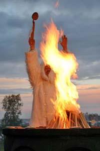 Обряд кормления огня