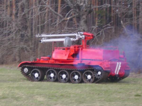 Самоходный лафетный ствол, робототехнический комплекс «Сойка»