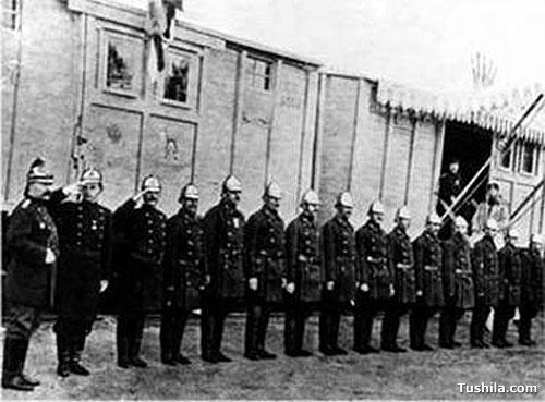 Образцовая выставочна пожарная команда передвижной выставки в 1899 году