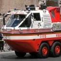 Концептуальный пожарный многоцелевой автомобиль – амфибия на трехосном полноповоротном шасси Iveco Magirus Marconi Duffy