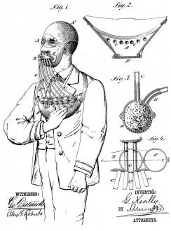 Дымоизолирующая маска Нили, 1877 год