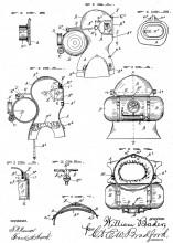 Патент на дымовой шлем W. Vajen, 1891 год