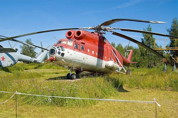 Пожарный вертолет Ми-6ПЖ2 - экспонат в Монино