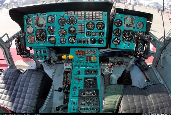 Кабина пожарно-спасательного вертолета Ка-32А