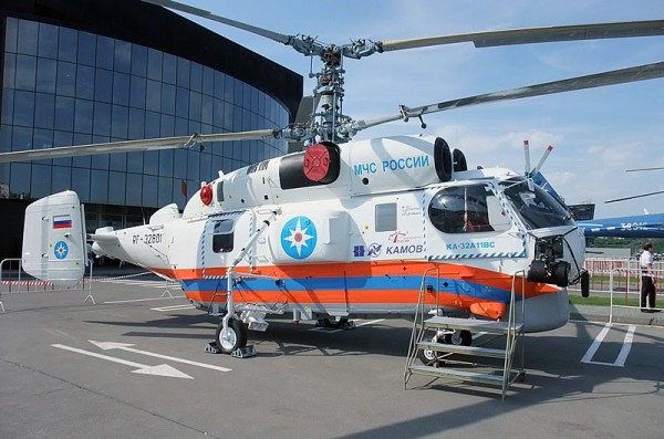 Пожарно-спасательный вертолет Ка-32А11BC. Правый борт