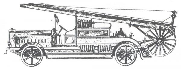 """Съемная механическая лестница, установленная """"Автопромторгом"""" на шасси зарубежного грузовика"""