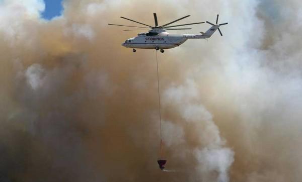 Пожарный вертолет Ми-26ТП с внешней подвеской Bamby-Bucket