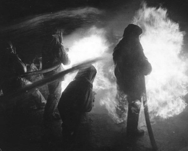 Тушение пожара на Пермском НПЗ. 16 июня 1966 года