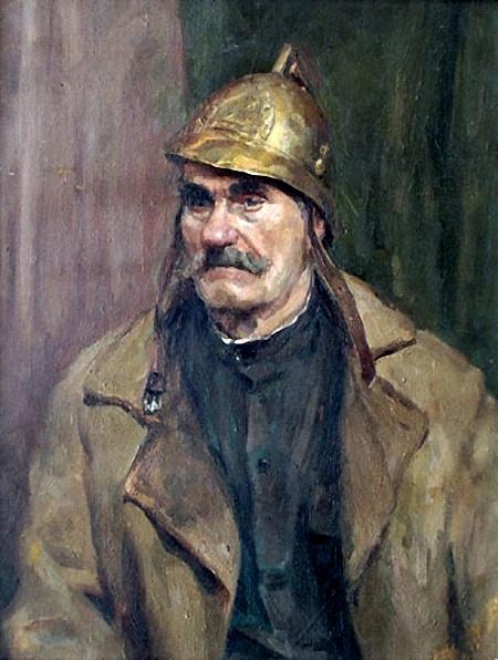 Арлен Кашкуревич. Портрет пожарного