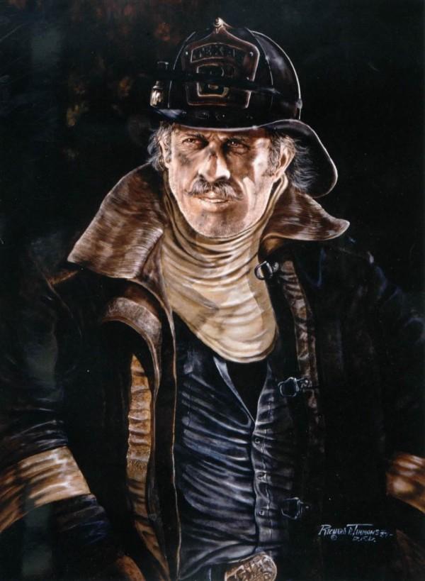 Ричард Тиммонс. Портрет пожарного (США)