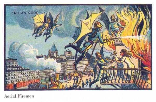 Научная фантастика начала 20 века. Летающие пожарные, Жан-Марк Коте, Франция