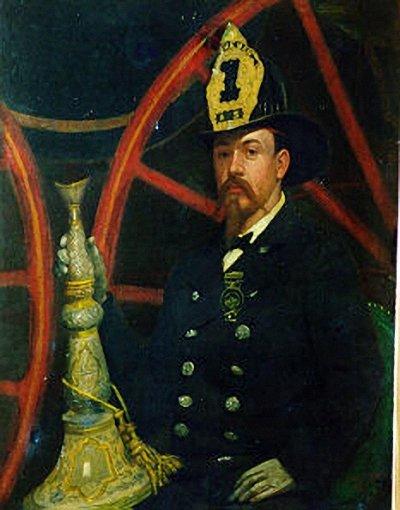 Джулиан Скотт (США). Портрет пожарного