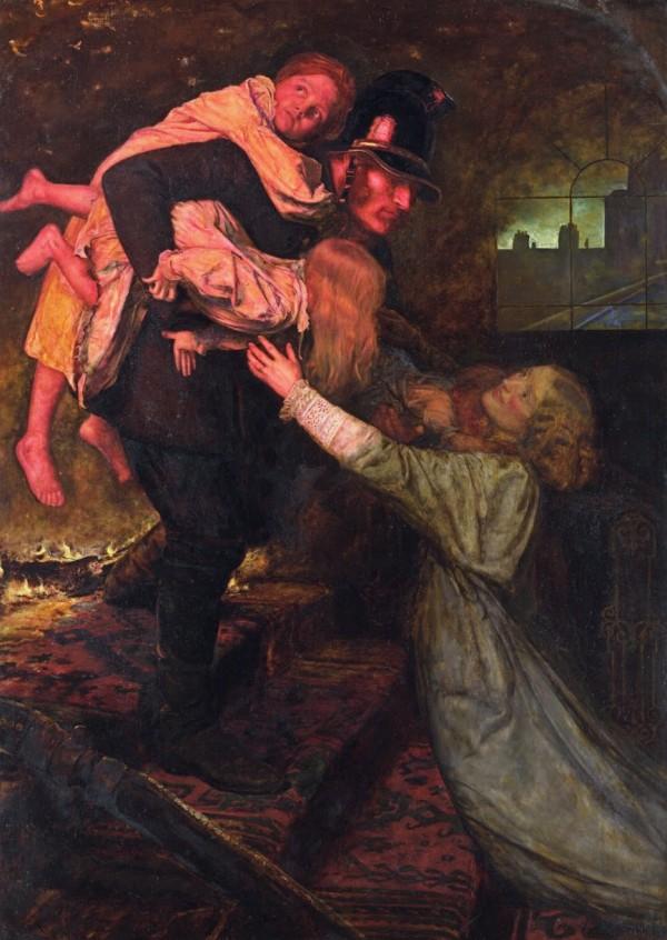 Джон Эверетт Миллэй. Спасение, 1855 год