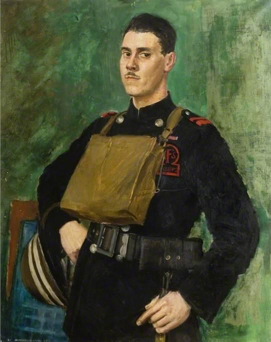 Бернард Хэйлстоун (Англия). Портрет окружного офицера вспомогательной пожарной службы Чемсхолда